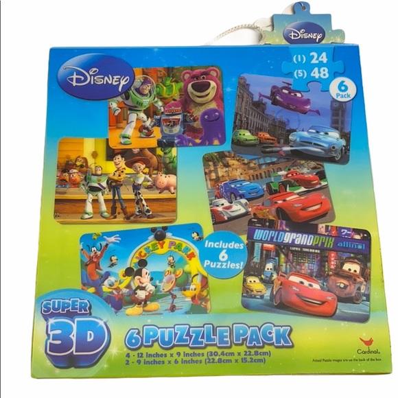 Disney Super 3D 6 Puzzle Pack